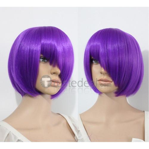 Bleach Kouraku Shunsui's Zanpakuto Katen Kyokotsu Short Purple Cosplay Wig