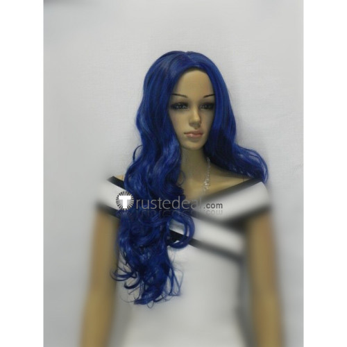 Corpse Bride Emily Curly Blue Halloween Cosplay Wig
