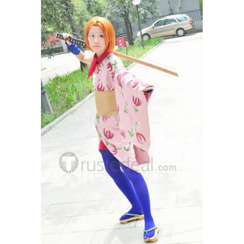 Gintama Chin Pirako Pink Kimono Cosplay