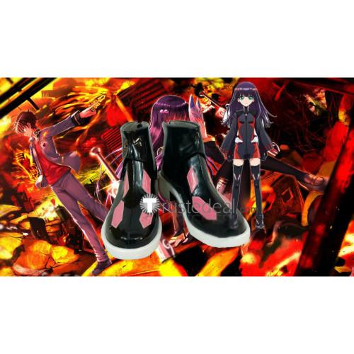 Twin Star Exorcists Sousei no Onmyouji Benio Adashino Black Cosplay Boots