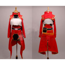 Sword Art Online Silica Red Cosplay Costume