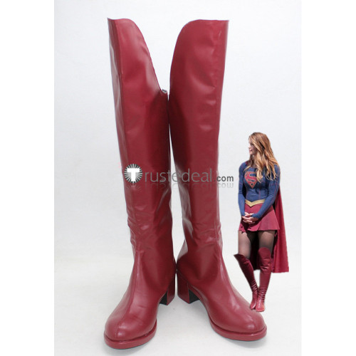Supergirl DC Comics Red Boots Shoes