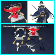 Touken Ranbu Mikazuki Munechika Armor Guard Headdress Necklace Accessories Cosplay Props