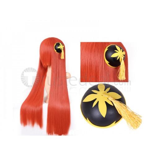 Gintama Movie Forever Yorozuya Kagura Long Orange Cosplay Wig