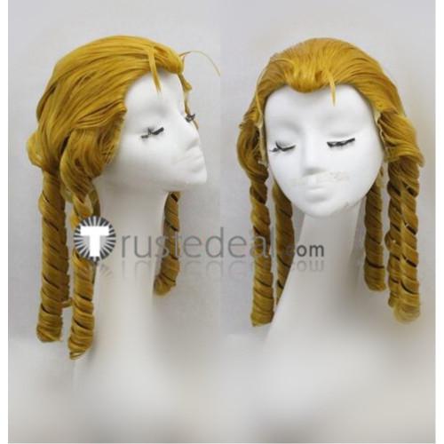 Street Fighter V Karin Kanzuki Blonde Curls Cosplay Wig