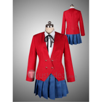 Toradora Taiga Aisaka and Ami Kawashima Red School Uniform Cosplay Costume