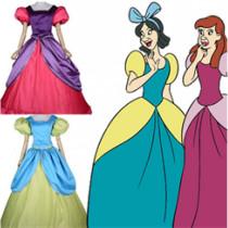 Cinderella Disney Princess Evil Sisters Cosplay Costume