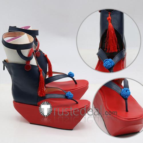 Onmyoji Yoto Hime Red Cosplay Shoes Boots