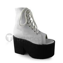 High Platform White Lolita Sandals