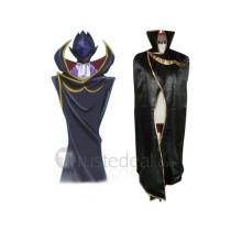 Code Geass Lelouch of the Rebellion Zero Black Knights Cosplay Cloak Cape