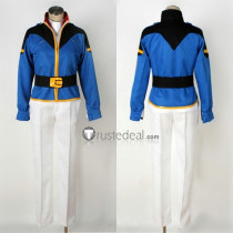 Mobile Suit Gundam Char's Counterattack Amuro Ray Blue Cosplay Costume