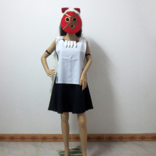 Hayao Miyazaki Princess Mononoke Cosplay Costume and Mask