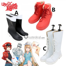 Cells at Work Hataraku Saibou Erythrocyte Red Blood Cell Platelet Neutrophil Macrophage Cosplay Boots Shoes