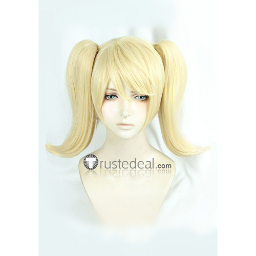 Overwatch Pink Mercy Charity Blonde Ponytails Cosplay Wig New Skin