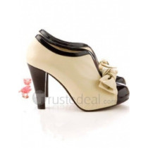 Top quality PU leather high heel pumps elegant ankle shoes (D1073).