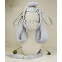 Onmyoji Ubume Long Silver Grey Cosplay Wig