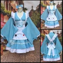 Alice in Wonderland Alice Blue Maid Cosplay Costume