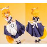 Sewayaki Kitsune no Senko-san Senkosan White Blue Maid Cosplay Costume