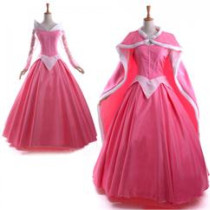 Sleeping Beauty Disney Princess Aurora Pink Cosplay Costume