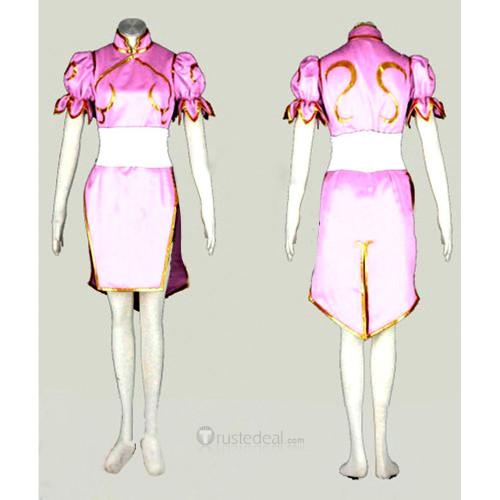 Street Fighter CHUN LI Cosplay Costume Pink