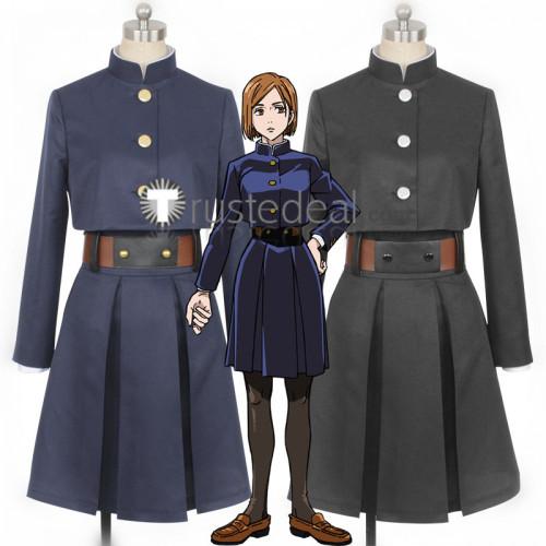 Jujutsu Kaisen Sorcery Fight Nobara Kugisaki Blue Black Uniform Cosplay Costumes