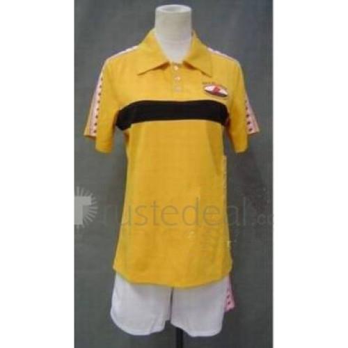 Prince of Tennis Rikkai Young Kan Yellow Uniform Summer Cosplay Costume