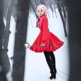 Guilty Crown YUZURIHA INORI Wine Red Cosplay Costume