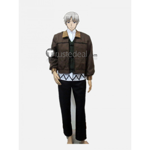Spice and Wolf Kraft Lawrence Brown Cosplay Costume2
