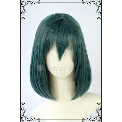 D.Gray Man Hallow Lenalee Lee Short Dark Green Cosplay Wig