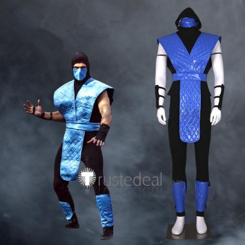 Mortal Kombat Sub-Zero Blue Cosplay Costume