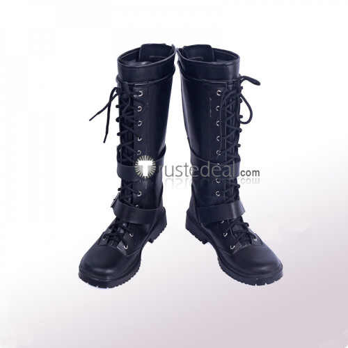 Kingdom Hearts 3 Riku Black Cosplay Shoes Boots