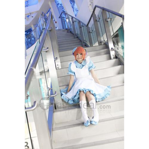 Gintama Kagura Alice Version Blue Maid Cosplay Dress
