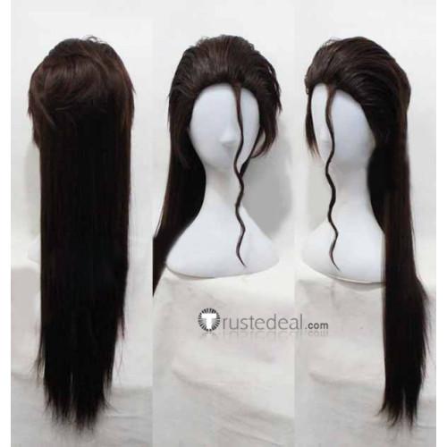 Bleach Sousuke Aizen Long Dark Brown Cosplay Wig