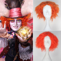 Alice Through the Looking Glass Mad Hatter Red Orange Cosplay Wigs