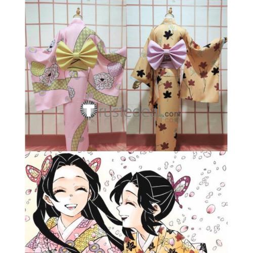 Kimetsu no Yaiba Demon Slayer Shinobu Kanae Kocho Kimono Yukata Cosplay Costumes