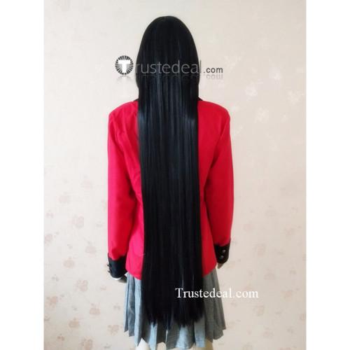 Kakegurui Jabami Yumeko Long Black Cosplay Wig 100cm