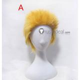 One Piece Donquixote Doflamingo Blonde Yellow Short Cosplay Wig