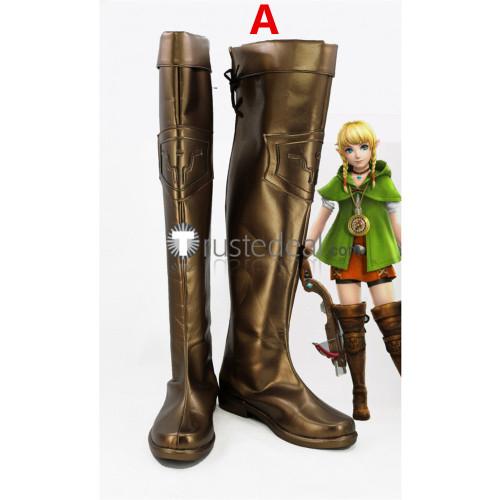 The Legend of Zelda Hyrule Warriors Linkle Female Link Cosplay Boots Shoes