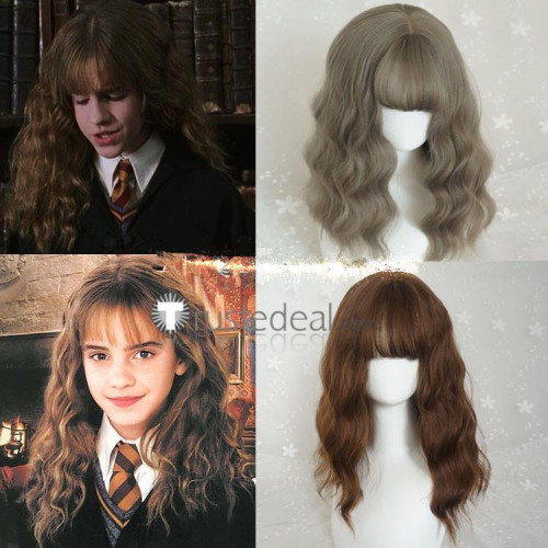 Harry Potter Hermione Jean Granger Gray Brown Cosplay Wigs Two Colors