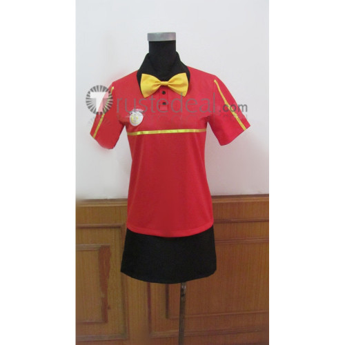 The Devil Is A Part Timer Sasaki Chiho MgRonald's Working Uniform Cosplay Costume