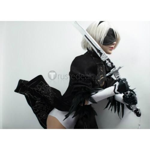 Nier Automata 2B Black Gothic Lolita Cosplay Costume 2