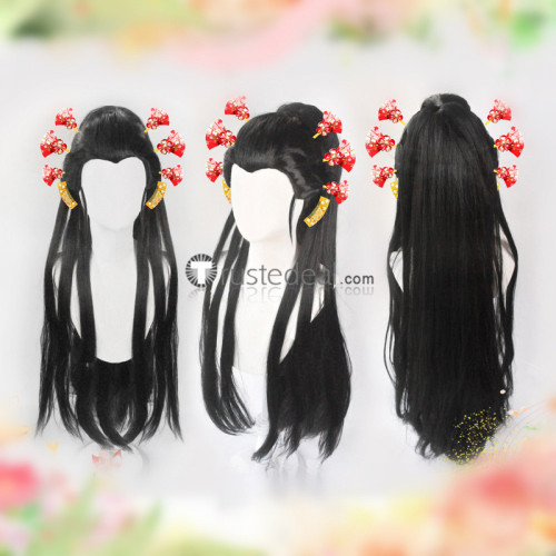 Demon Slayer Kimetsu no Yaiba Daki Cosplay Wigs Hairpins Accessories
