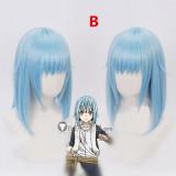 Tensei Shitara Slime Datta Ken Rimuru Tempest Mikami Satoru Light Blue Cosplay Wigs