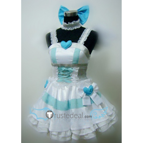 Panty and Stocking with Garterbelt Anarchy Stocking Angel White Cosplay Costume 1