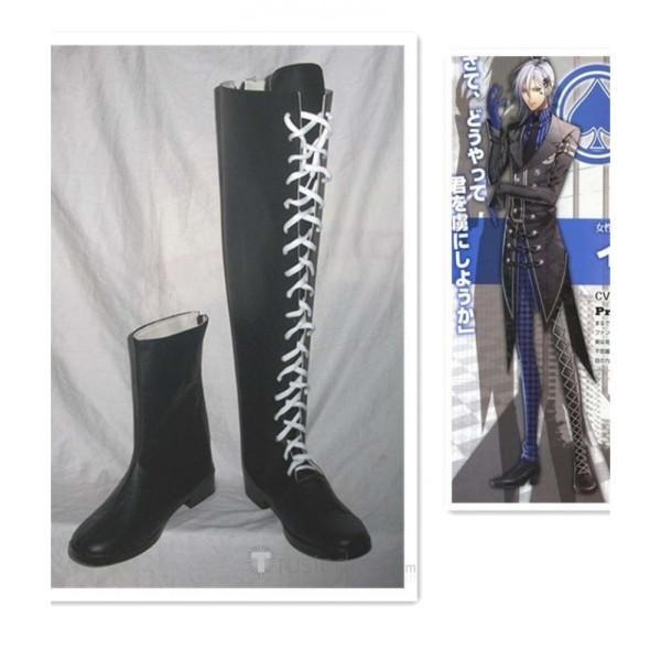 AMNESIA Ikki Black Cosplay Boots Shoes