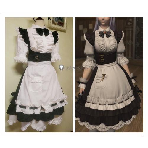 Final Fantasy XIV FF14 Miqo'te Housemaid Maid Dress Cosplay Costume