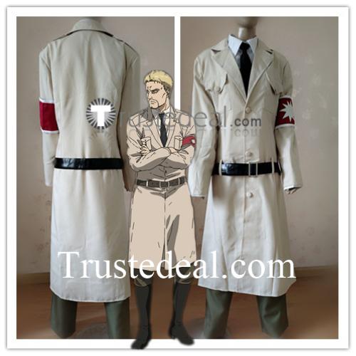 Attack on Titan Shingeki no Kyojin Final Season 4 Reiner Braun Zeke Yeager Marley Military Uniform Cosplay Costume