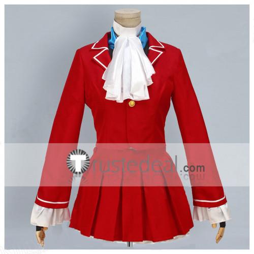 Street Fighter V Karin Kanzuki Red Cosplay Costume