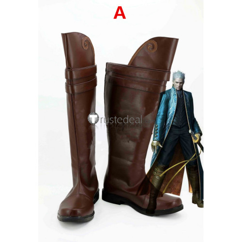 Devil May Cry 3 Vergil Cosplay Boots Shoes