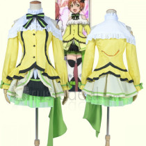 Love Live Rin Hoshizora KiRa KiRa Sensation Yellow Cosplay Costume